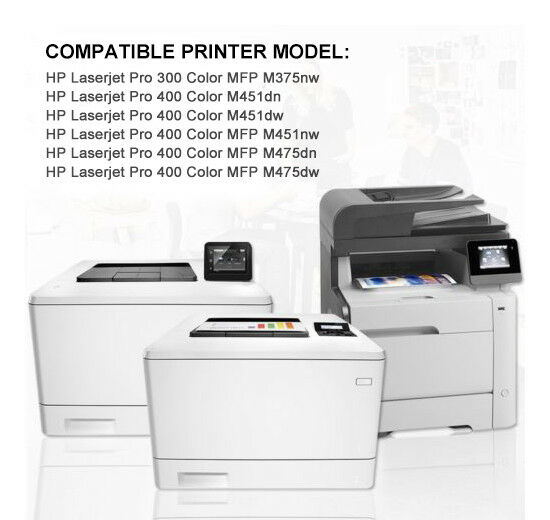 Remanufactured Color Toner Set Fit HP 305A for M375NW M451DN M451DW//NW M475DN//DW