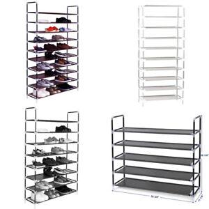 3-5-8-10-Tier-Shoe-Tower-Rack-Home-Storage-Organizer-Cabinet-Shelf-Space-Saving