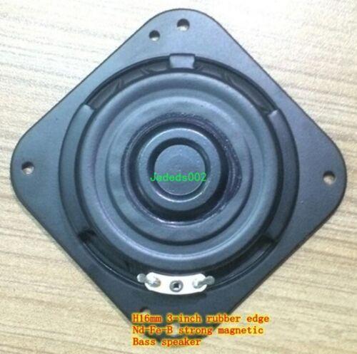 "2pcs 3/""inch ultra-thin Bass speaker woofer 8ohm 8Ω 15W Rubber edge loudspeaker"