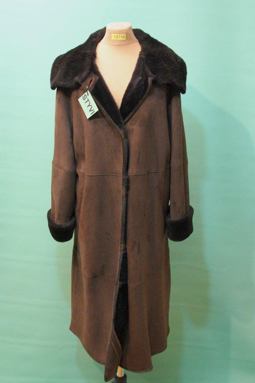 Fantastisk marester Lambskin Coat CA 44  l Italien Designer Shearling Lyxry Top