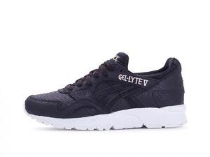 7b5927191 Women Asics Gel Lyte V 5 Black White New Running Shoes Gym H7E8L ...