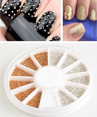 LOTS Gold&Silver Stud Nail Art 3D Design Decoration Stickers Metallic Stud Hot!!