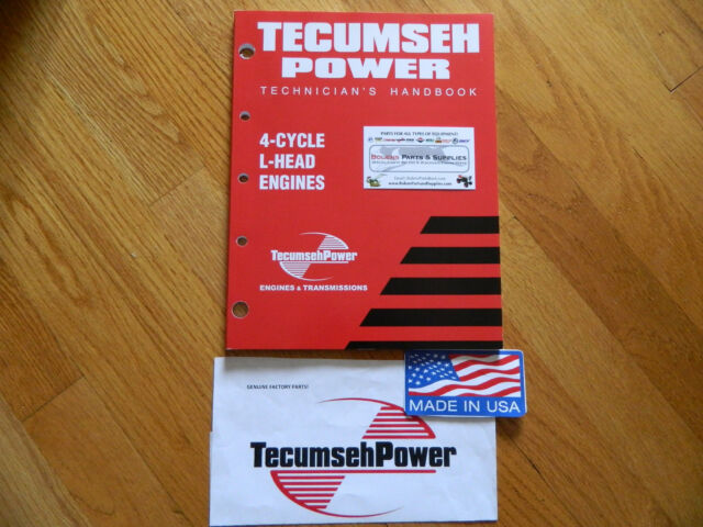 Details About NEW Tecumseh Engine 4cycle L Head Repair Service Manual 3 11HP Mowers Blowers