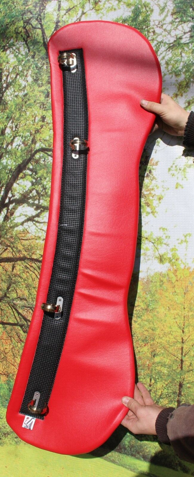 Worlds Beste horse drawn harness collar pad Permasoft super plush RED RED RED