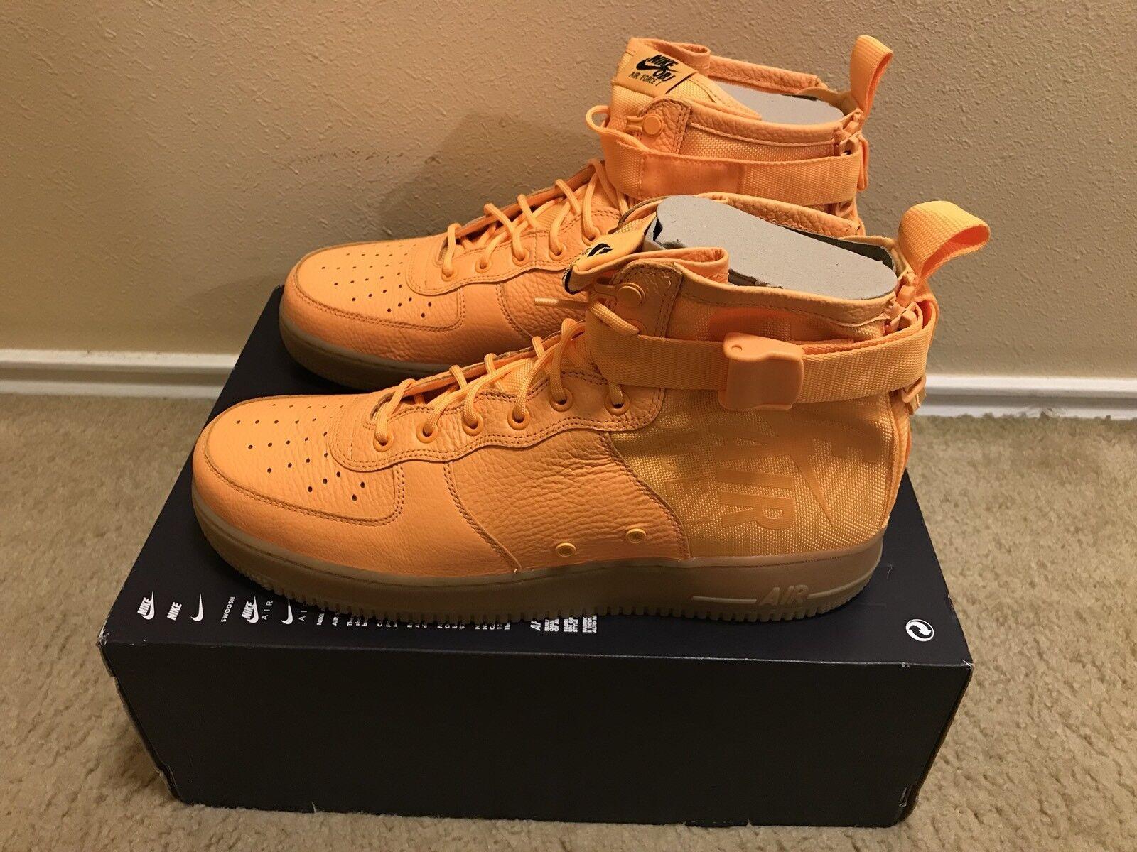 Nike SF AF1 Special Air Force Mid OBJ Odell Beckham Jr Orange 917753 801 Size 14