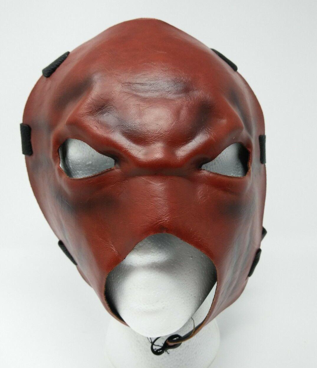 WWE KANE Demon Replica Mask Adjustable Strap Kids Adult Faux Leather RARE W2