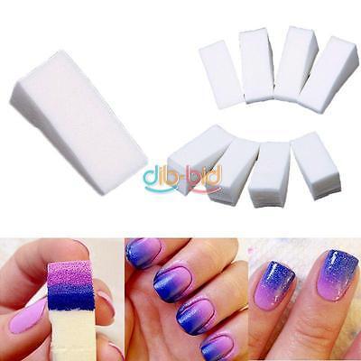 8pcs Hot Woman Soft Beauty Makeup Nail Sponges for Acrylic UV Gel Manicure Art