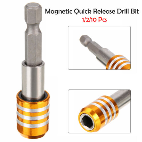 "1//2//10x 1//4/"" Hex Shank Magnetic Drill Bit Screwdriver Holder Quick Release  60mm"