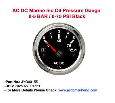 Genuine OEM Yanmar Marine Boat Oil Pressure Gauge 12V