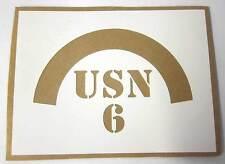 USA M1 Helmet Stencil Template 6th Naval Beach Battalion NBB WW2 WWII not Decal