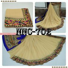 Exclusive Bordered Partywear Saree Fabric Georgette saree Printed Blouse Sari
