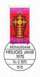 Copieux Rfa 1975: Sacré Année Nº 834 Avec Bonner Ersttags-cachet Spécial! 1a! 155-rstempel! 1a! 155fr-fr Afficher Le Titre D'origine