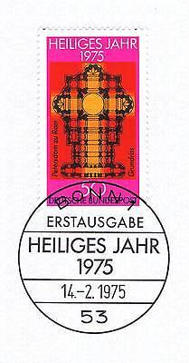Brd 1975: Heiliges Jahr Nr. 834 Mit Bonner Ersttags-sonderstempel! 1a! 155