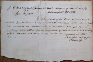 JOSEPH-ALBERT-WRIGHT-1833-Autograph-Hand-Signed-Document-Indiana-IN-Governor