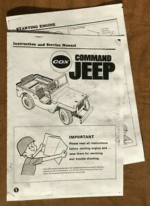 L.M COX .049 PINTO FUNNY CAR OWNER/'S CAR AND ENGINE MANUAL INSTRUCTIONS 049