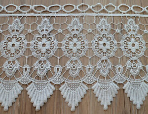 36 Quot White Macrame Lace Window Curtain Valance 12 Quot Length