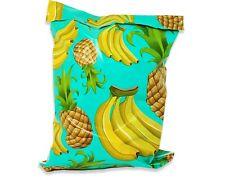 Poly Mailers 10x13 Tropical Theme Teal Pineapple Banana Shipping Mailing Aqua