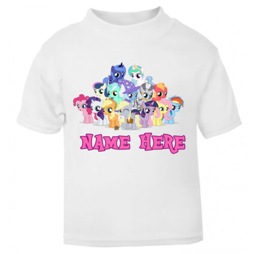 Personalised My Little Pony T-Shirt Age Size Top Kids For Girls Gift Idea Horse