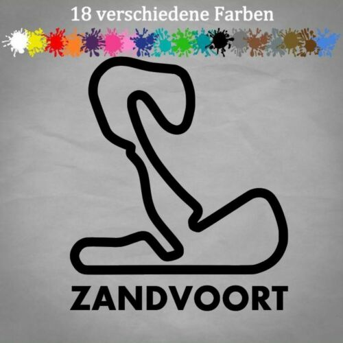 CIRCUIT ZANDVOORT 14x12cm Autocollant GP Pays-Bas Anti-Chocs Autocollants Park formule 1