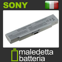 Batteria ARGENTO 10.8-11.1V 5200mAh per Sony Vaio VGN-N21M/W