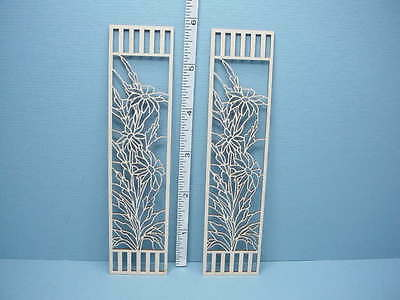 Miniature Decorative French Door Mullions Pr #L-F Laser Creations