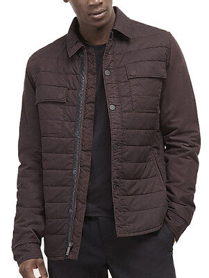 Kenneth Cole New York Mens Packable Quilted Shirt Jacket