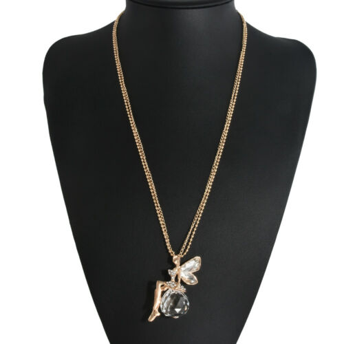 Women/'s Fashion Crystal Tassel Pendant Long Chain Sweater Necklace Jewelry Gift