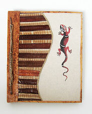 Large Handmade photo album made using natural lief sand & bark LIZARD DESIGN new