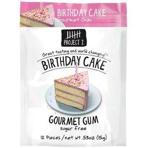 Superb 4 X Bbe 04 10 18 Project 7 Birthday Cake Sugar Free Gourmet Gum Funny Birthday Cards Online Alyptdamsfinfo