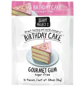 Sensational 4 X Bbe 04 10 18 Project 7 Birthday Cake Sugar Free Gourmet Gum Personalised Birthday Cards Paralily Jamesorg