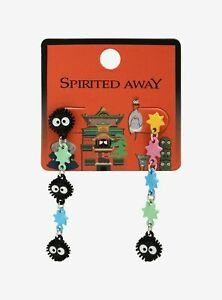 Studio Ghibli Spirited Away Soot Sprites Mismatch Earrings New Ebay