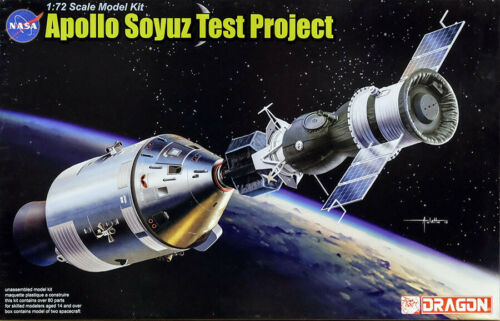 Apollo 18 Soyuz 19 Test Project ASTP Sojus 1:72 Model Kit Bausatz Dragon 11012