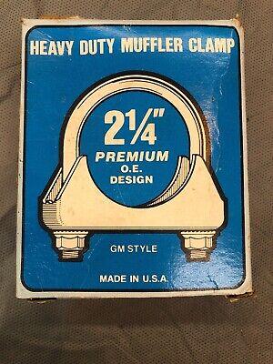 MADE IN USA - GM Style 3//8 U BOLT 1 3//4 Heavy Duty Muffler Clamp - 2 pcs