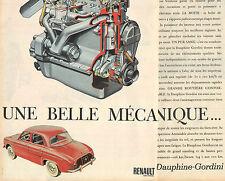 Publicité Advertising 1960 (Double page)  RENAULT Dauphine Gordini