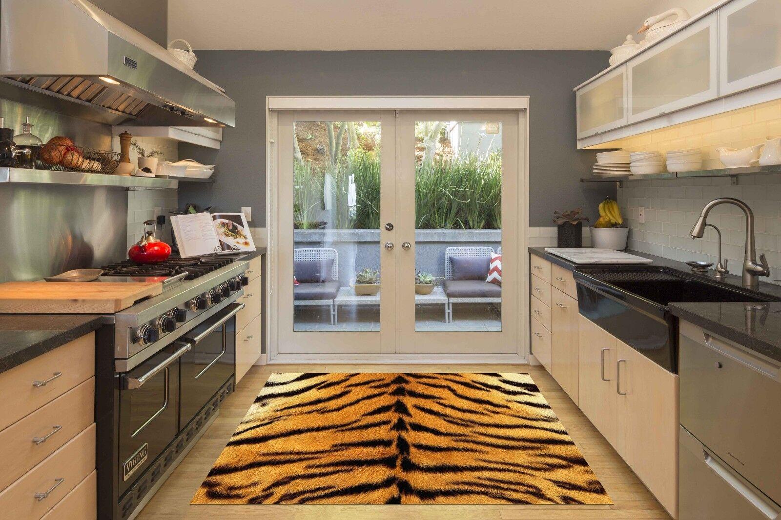 3D Tiger Skin 845 Kitchen Mat Floor Murals Wall Print Wall AJ WALLPAPER AU Carly