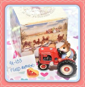 Wee-Forest-Folk-M-133-Field-Mouse-Red-Tractor-Retired-Farmer-WFF-1985