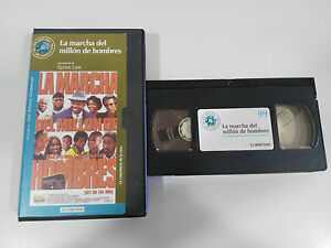 LA-MARCHA-DEL-MILLON-DE-HOMBRES-TAPE-VHS-COLECCIONISTA-SPIKE-LEE-GET-ON-THE-BUS