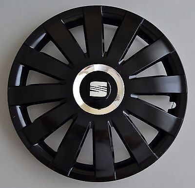 """SEAT Alhambra 15 /""""Noir Élégant Housse Roue Tempest hub caps x4"""