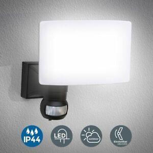 Details Zu Led Außenleuchte Wand Leuchte Bewegungsmelder 20w Hausbeleuchtung Sensor Schwarz