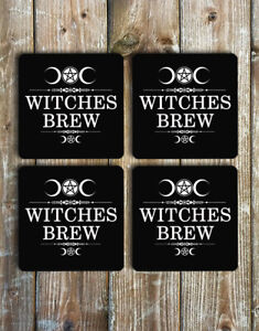 Witches Brew Drink Coasters Set of 4 Non Slip Neoprene