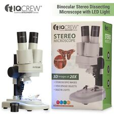 Iqcrew 20x Kids Student And Hobbyist Portable Stereo Microscope W Led Light