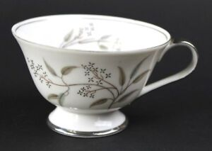 VTG-Grace-China-Seyei-Japan-Alyson-566-Fine-China-Tea-Cup-White-Silver-Trim