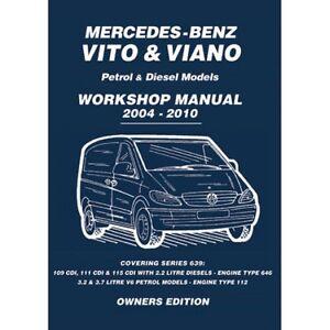 mercedes vito viano 2004 2010 owners workshop manual mbv4wh ebay rh ebay co uk Corvette Owners Manual Car Owners Manual