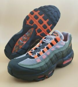 Details about Nike Air Max 95 OG Women Running Shoes Olive Green Total Orange MSRP $160