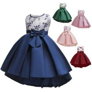Dresses baby party tutu princess formal wedding bridesmaid dress girl flower kid