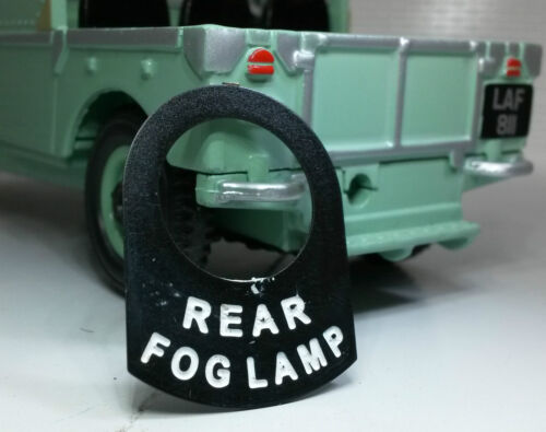 Land Rover Series 1 2 2a 2b 3 Metal Switch Tab Badge Decal Label Rear Fog Lamp
