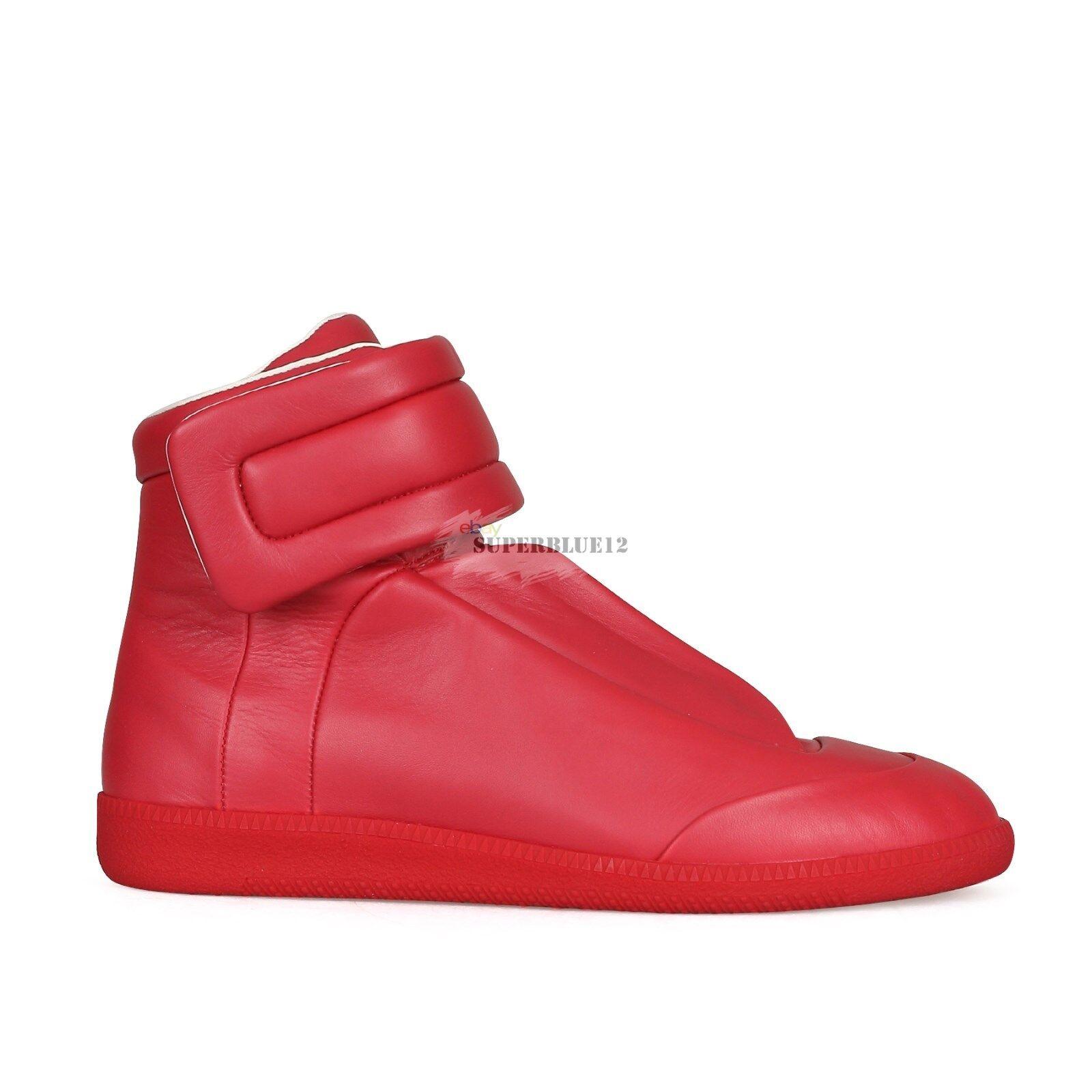 MAISON MARTIN MARGIELA FUTURE HIGH TOP SNEAKERS RED