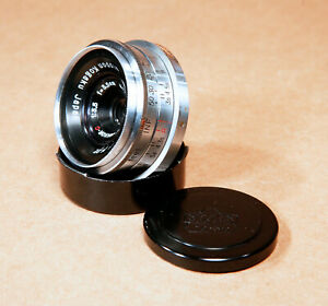 Nikon-W-Nikkor-C-35mm-f-3-5-Wide-Angle-S-Mount-Rangefinder-Contax-Lens-READ