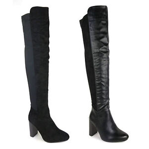 womens suede the knee thigh high wide calf