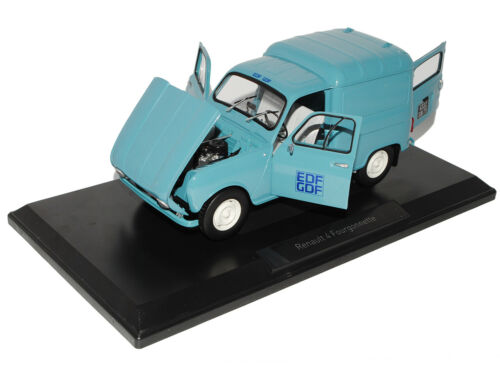 Renault 4 Fourgonnette Blau Transporter 1965 EDF GDF 1//18 Norev Modell Auto mit
